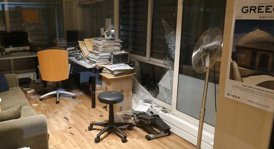 Bomba atinge emissora grega