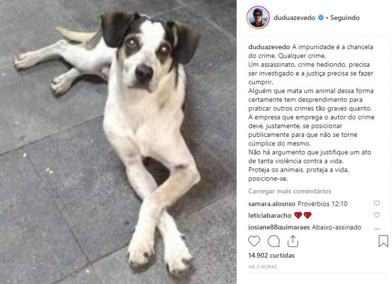 Famosos se mobilizaram pedindo justiça no caso do cão morto por segurança do Carrefour