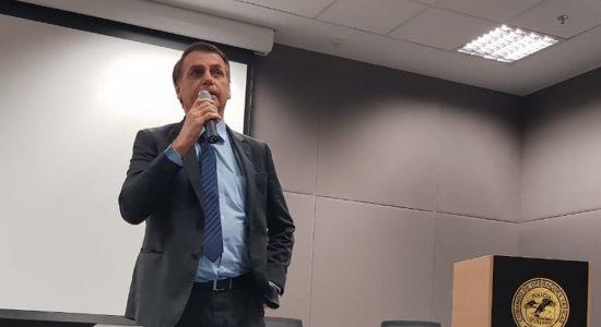 Jair Bolsonaro no COT da PF