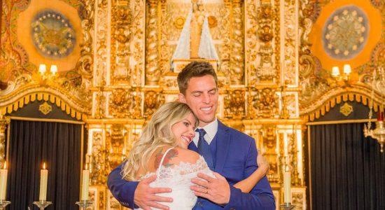 Karina Bacchi e Amaury Nunes casaram-se em São Paulo