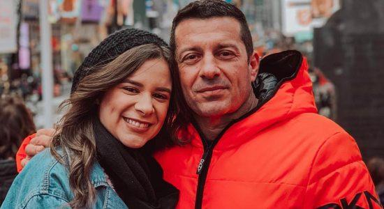 Luma Elpidio viaja pelos Estados Unidos com o pai