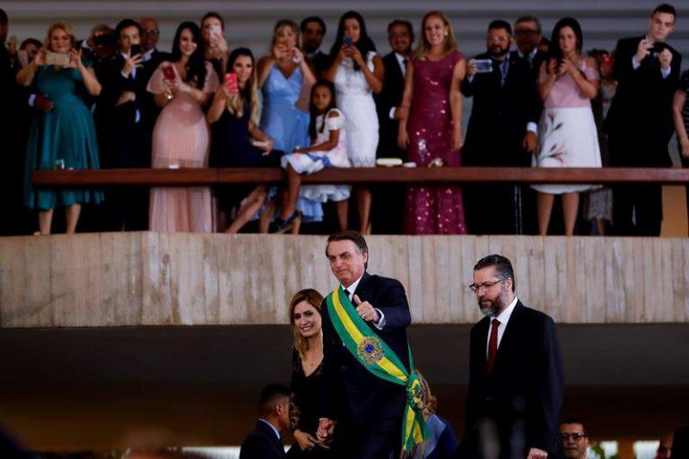 Jair Bolsonaro em coquetel de recepção