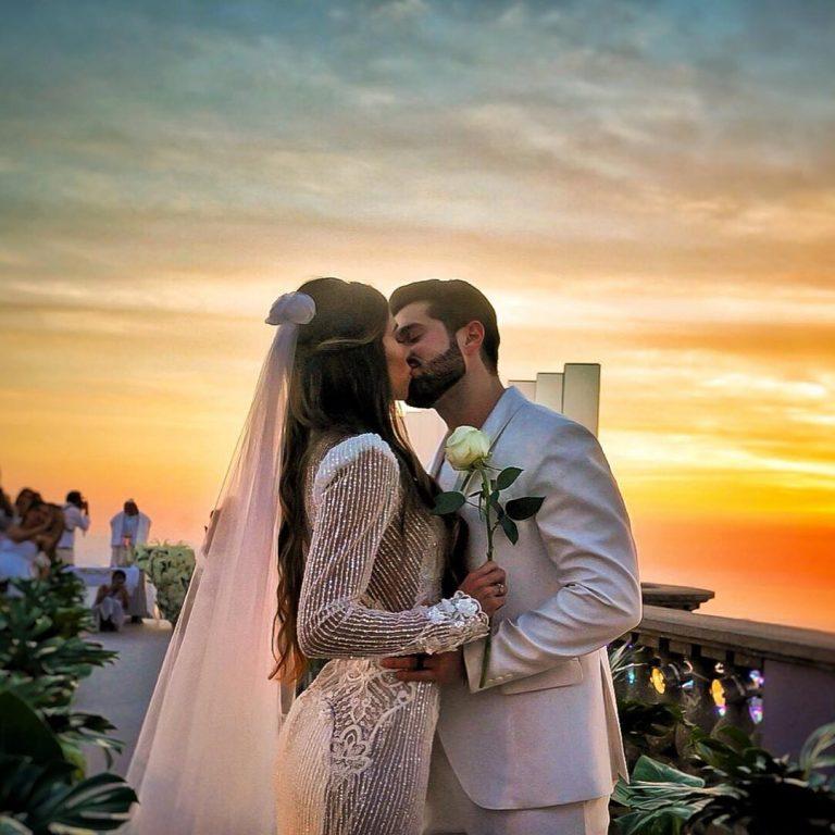 Alok e Romana se casaram ao nascer do sol desta terça-feira