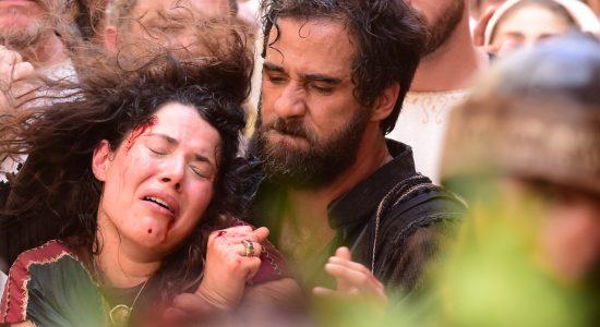 A passagem da mulher adúltera vai ao ar na próxima semana na novela Jesus