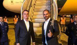 Presidente Jair Bolsonaro e deputado Eduardo Bolsonaro