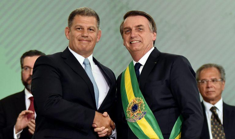 Ex-ministro Gustavo Bebianno ao lado do presidente Jair Bolsonaro