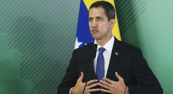 Autoproclamado presidente interino da Venezuela, Juan Guaidó