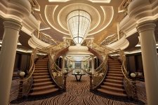 Navio já foi escolhido o mais luxuoso do mundo
