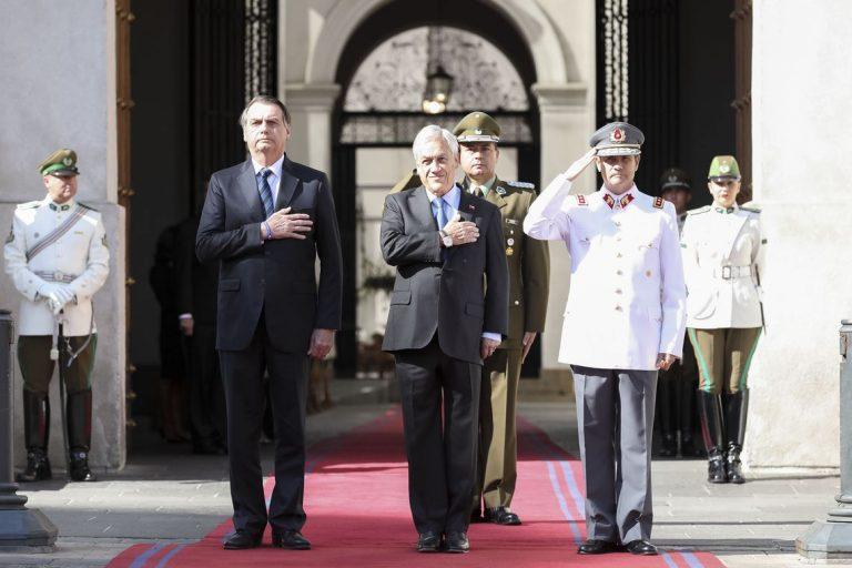 Presidente da República, Jair Bolsonaro durante Cerimônia Oficial de Chegada.