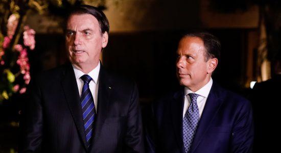 Presidente Jair Bolsonaro e governador de São Paulo, João Doria