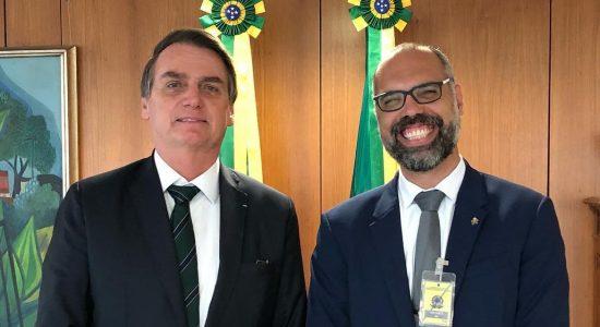 Presidente Jair Bolsonaro e Allan dos Santos