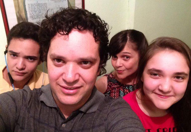 Samuel Melquiades e a família