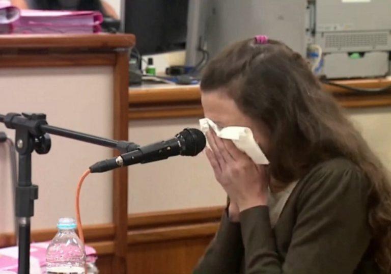 Graciele Ugulini durante depoimento