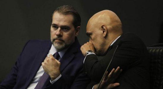 Ministro Dias Toffoli e ministro Alexandre de Moraes