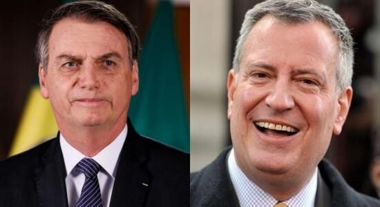 Bill de Blasio se manifestou contra Bolsonaro
