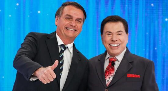 Silvio Santos recebe Jair Bolsonaro em seu programa