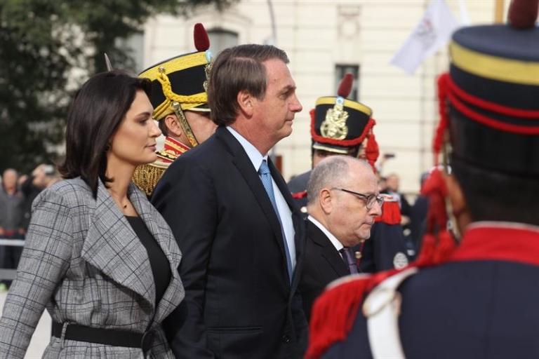 Presidente e primeira-dama foram recebidos por Macri