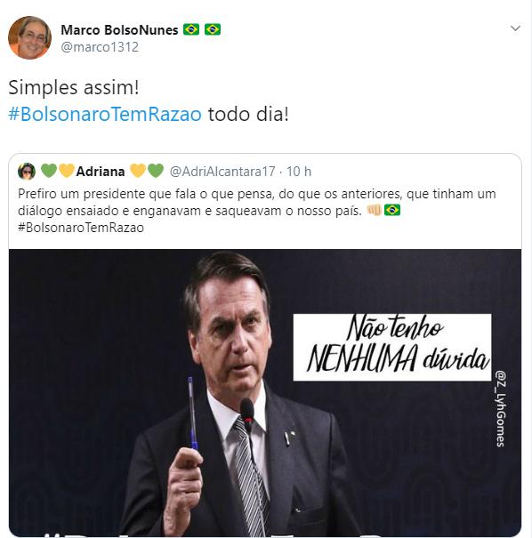 Internautas defenderam Bolsonaro em polêmica com presidente da OAB