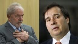 Ex-presidente Lula participou de encontro com Rodrigo Maia
