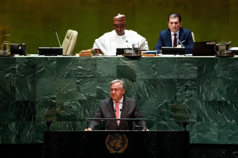 Presidente Jair Bolsonaro durante a abertura da 74ª Sessão da Assembleia Geral das Nações Unidas