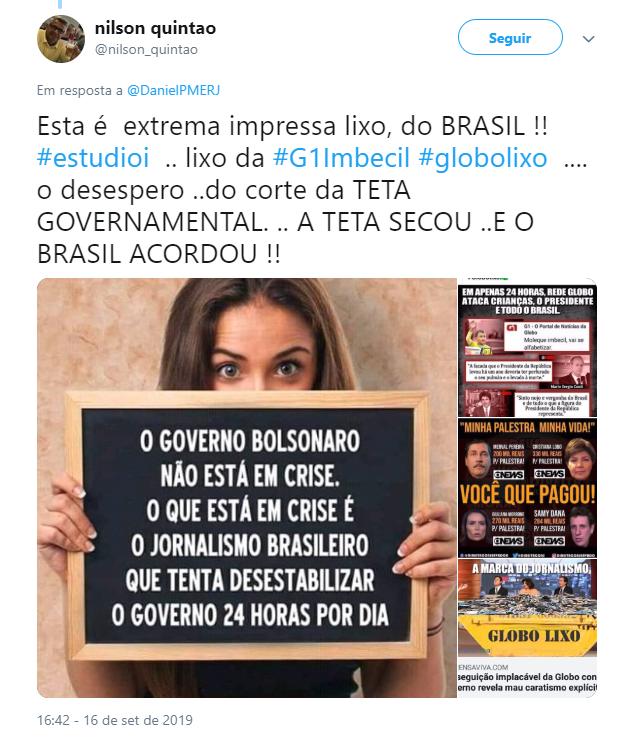 Erro de jornalista da GloboNews causou revolta em usuários do Twitter