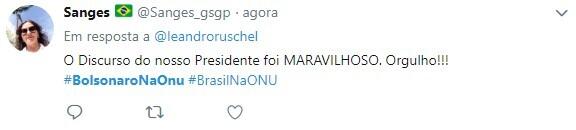 Discurso de Bolsonaro foi elogiado nas redes sociais