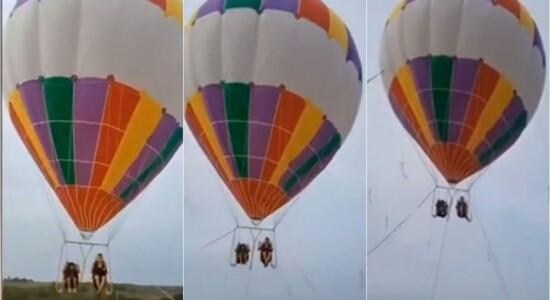 Mãe e filho morreram após balão se soltar