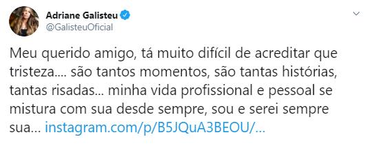 Devido às informações desencontradas, famosos se dividiram entre lamentar a morte de Gugu e desejar melhoras ao apresentador