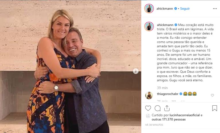 Famosos lamentam morte do apresentador Gugu Liberato