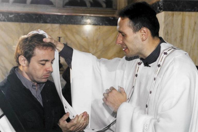 Gugu e Padre Marcelo em Jerusalém
