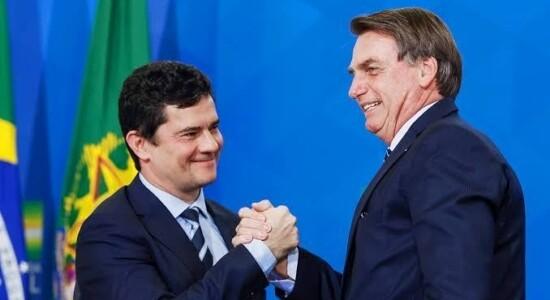 Ministro Sergio Moro e o presidente Jair Bolsonaro