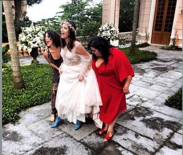 Mayana Moura e Louis Harang se casaram