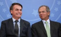 Presidente Jair Bolsonaro e ministro Paulo Guedes