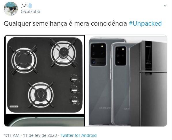 Internautas compararam novo Samsung a uma geladeira