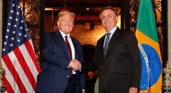 Presidente dos EUA, Donald Trump, e o presidente Jair Bolsonaro