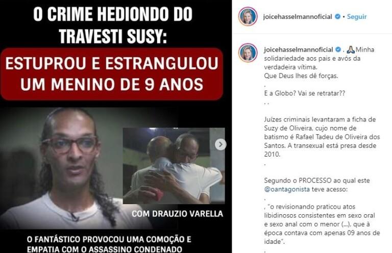 Web conclama boicote à Globo após revelações do caso Suzy
