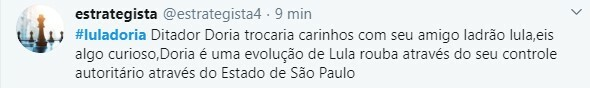 Doria foi duramente criticado após compartilhar publicação de Lula