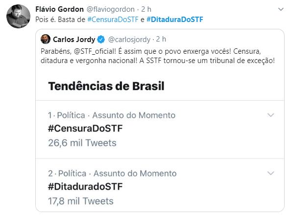 Internet se une em grande ato e denuncia a #CensuraDoSTF