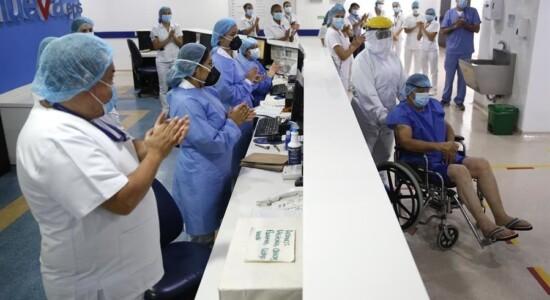 Médicos celebram cura de pacientes