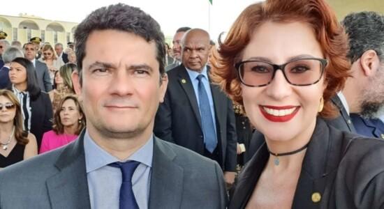 Carla Zambelli e Sergio Moro