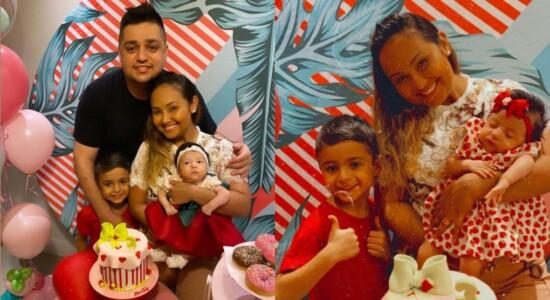 Filha de Bruna Karla completa 3 meses e cantora agradece a Deus