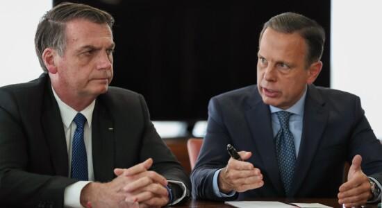 Presidente Jair Bolsonaro e governador de SP, João Doria