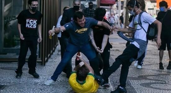 Atos em São Paulo no domingo registraram violência contra apoiadores de Bolsonaro