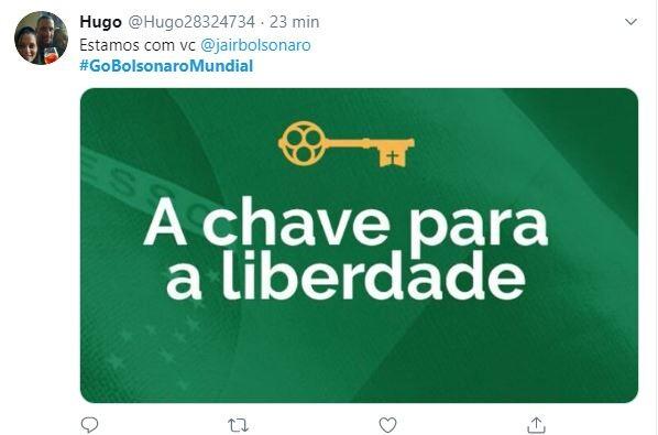 Bolsonaro recebe apoio nas redes sociais