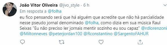 Internautas criticam postura da Folha