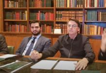 Presidente Jair Bolsonaro e o assessor para Assuntos Internacionais, Filipe Martins