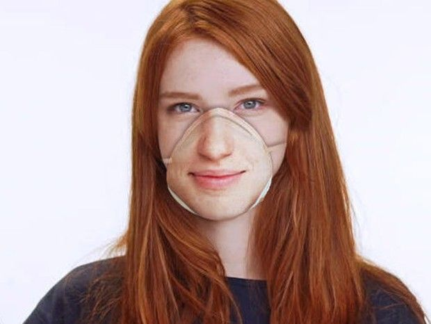 Máscaras com impressão da foto da pessoa