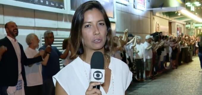 Repórter Marina Araújo foi feita refém