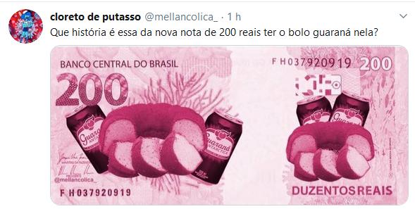 Lançamento da cédula de R$ 200 gera memes