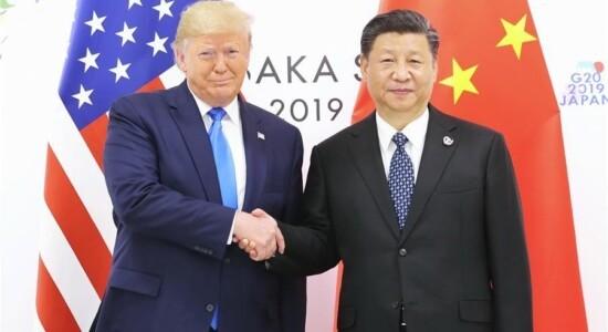 Presidentes Donald Trump e Xi Jinping